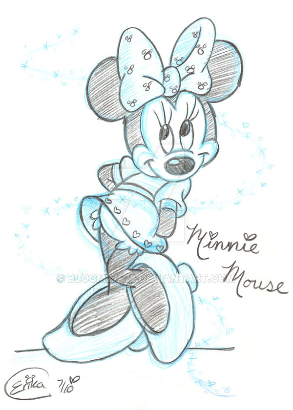 600x840 Minnie Mouse Sketch By Bloom27472