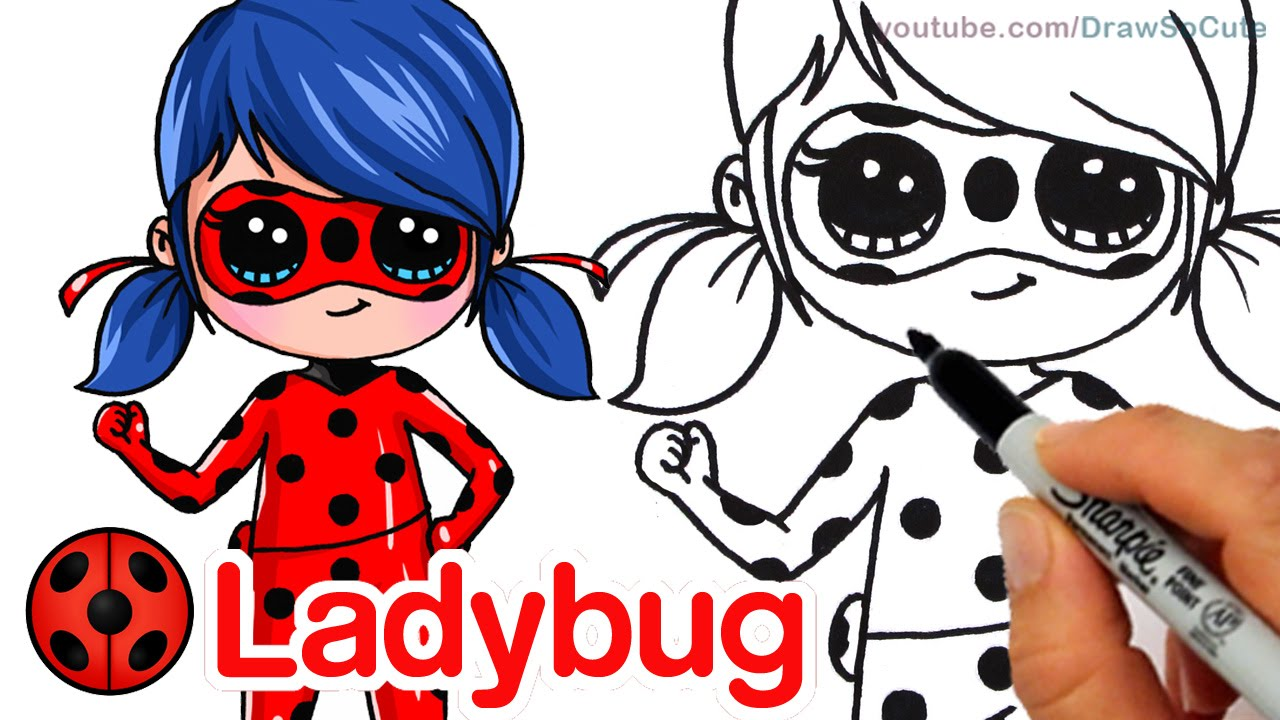 1280x720 How To Draw Miraculous Ladybug Step By Step Chibi