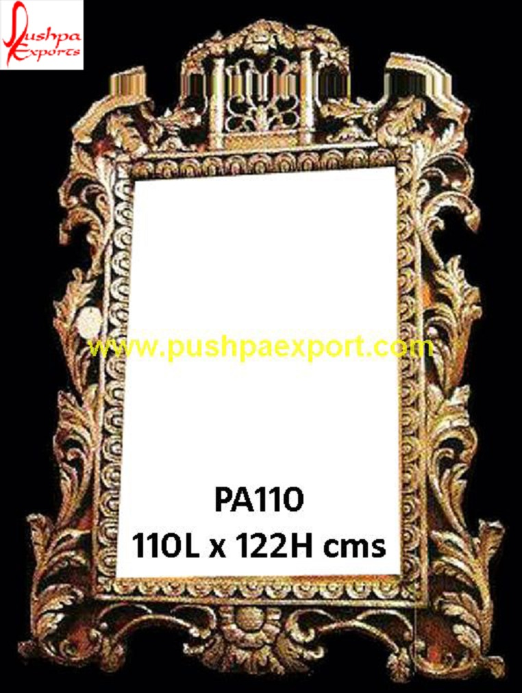 762x1012 Hand Carved Drawing Room Silver Mirror Frame Pushpa Arts
