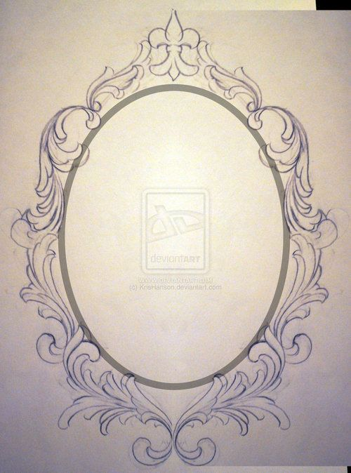 500x674 Drawing Oval Frame