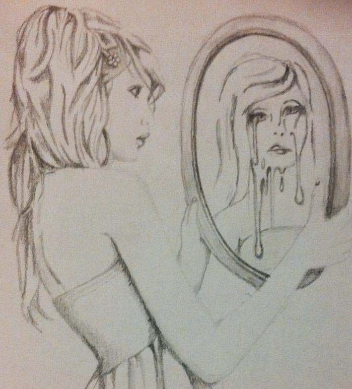 699x772 I Drew It Myself, Although The Girl Is Copied From An Image I Saw