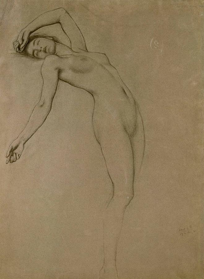 659x900 Study For Clyties Of The Mist Drawing By Herbert James Draper