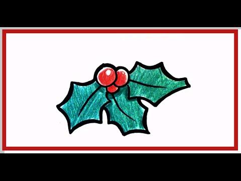480x360 How To Draw Mistletoe