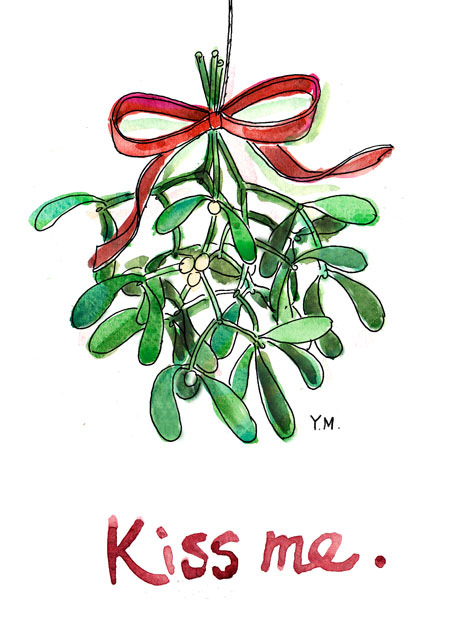 450x625 Illustrator In Paris Mistletoe