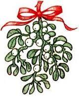 160x195 Vector Illustration Christmas Mistletoe Branch Drawing