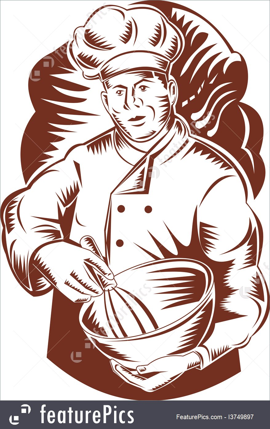 878x1392 People At Work Chef Holding Mixing Bowl