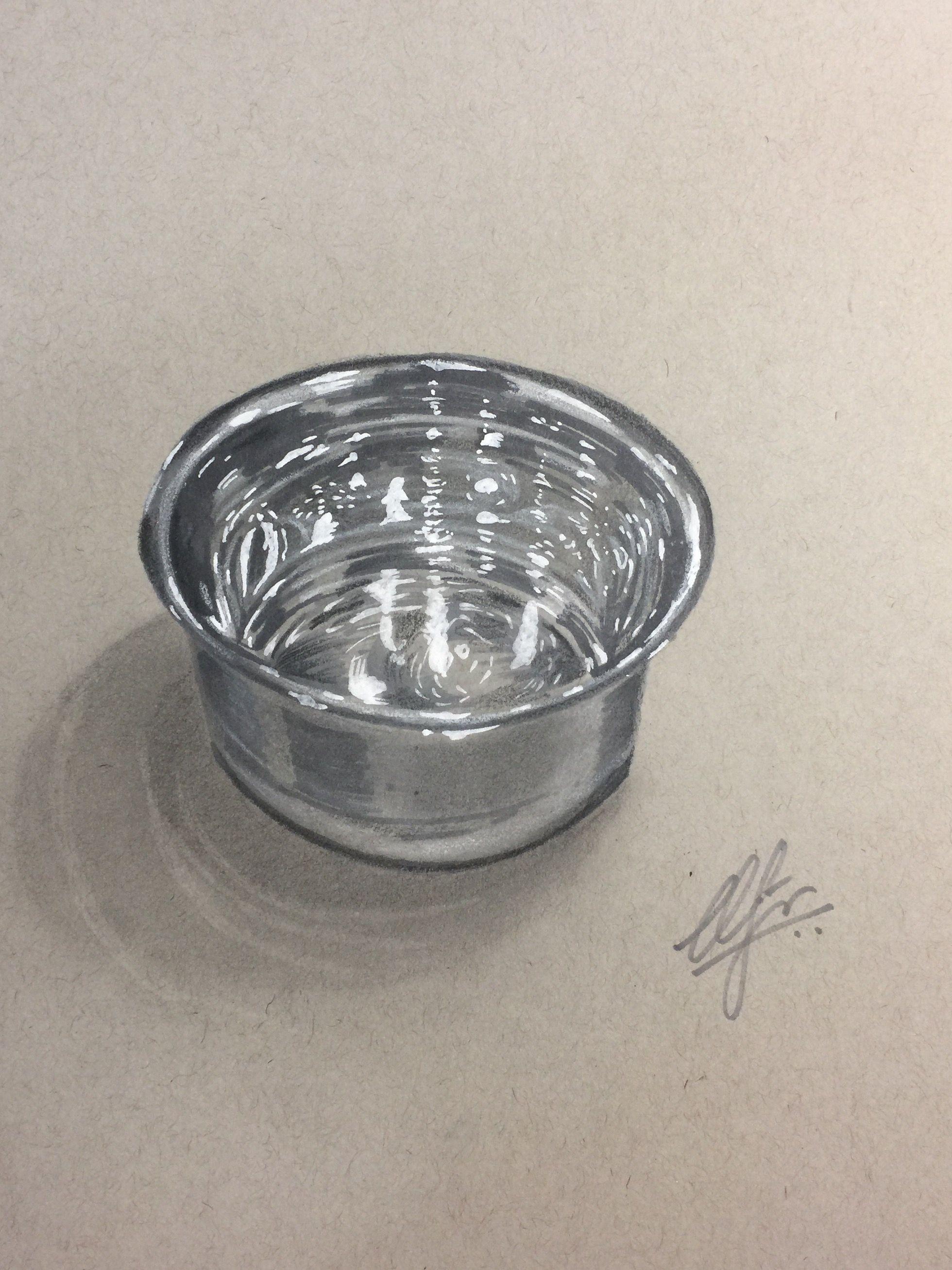 1960x2614 Realistic Steel Bowl Drawing Realistic Steel Bowl Drawing