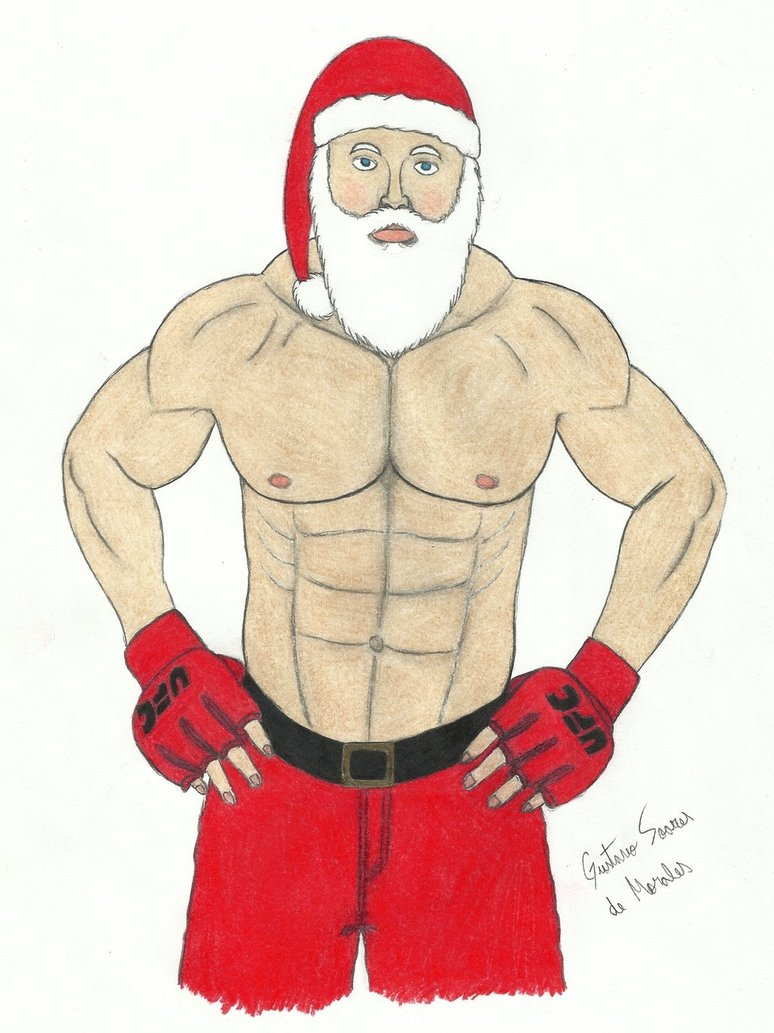 774x1033 Santa Claus Ufc Fighter By Gustavomorales