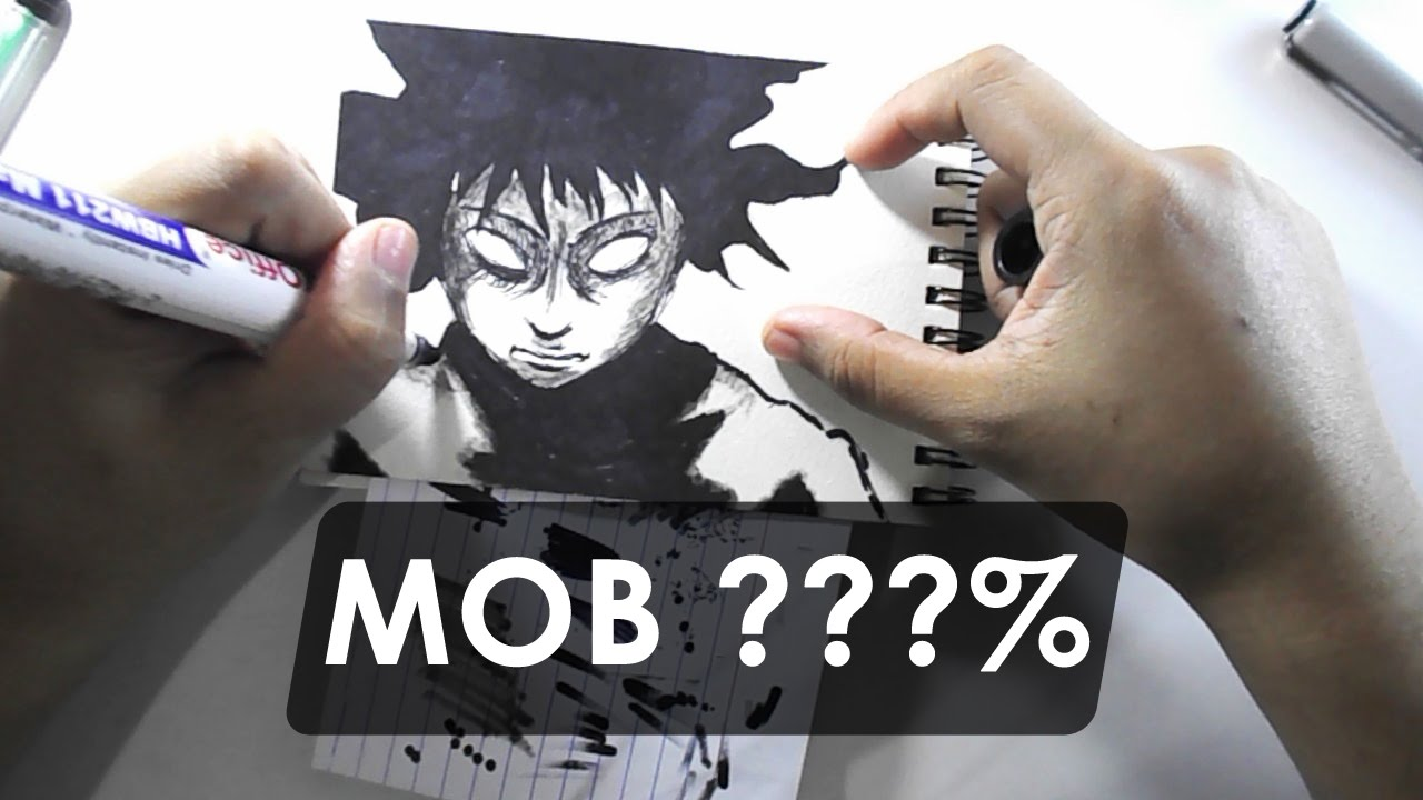 1280x720 Mob % Mode (Mob Psycho 100) Drawing Jamdraw