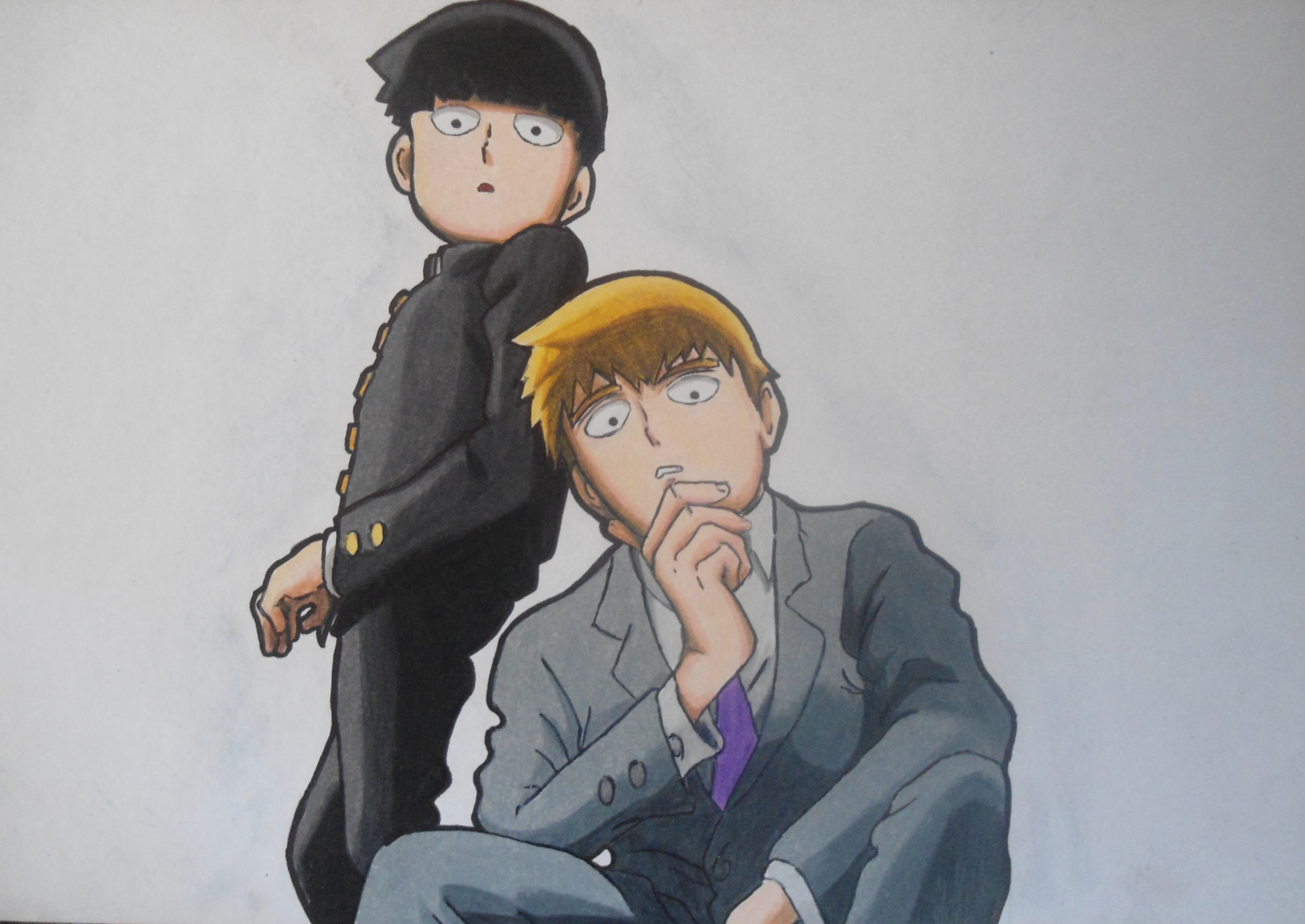 3834x2715 Speed Drawing Mob Amp Reigen Mob Psycho 100