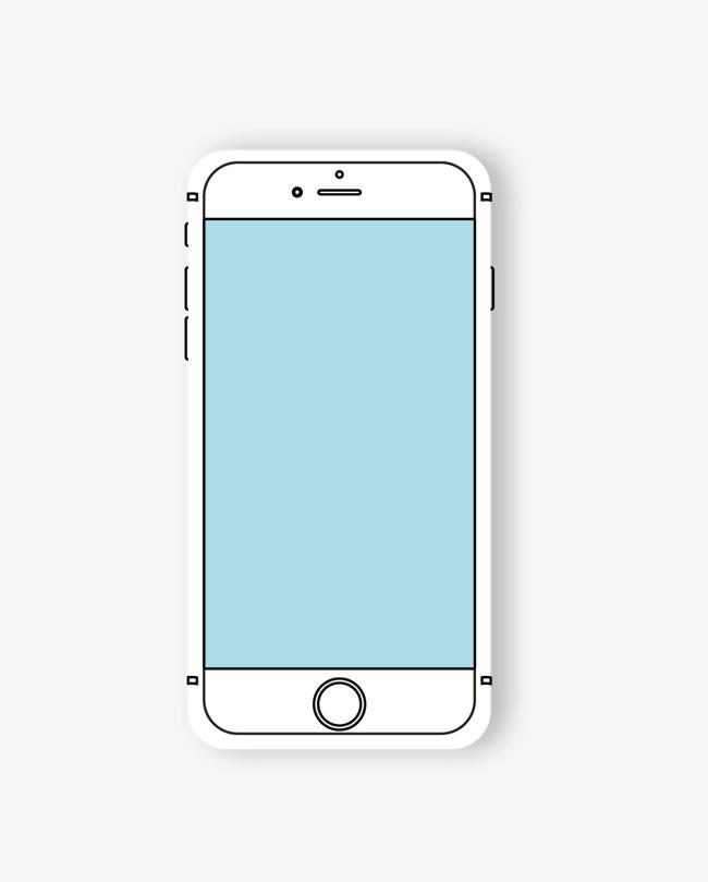650x809 Vector Blue Phone Line Drawing Icon Icon, Vector, Cartoon Hand
