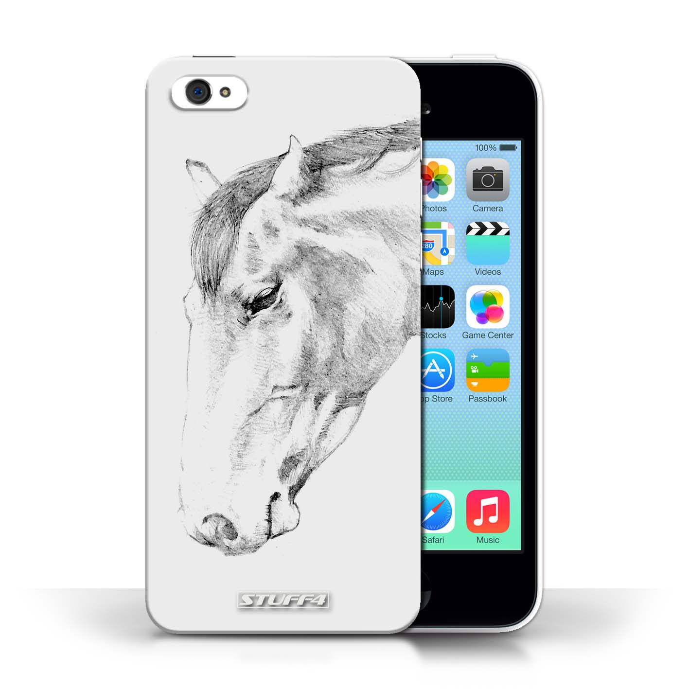 1417x1417 Designer Mobile Phone Case Sketch Drawing Collection Horse