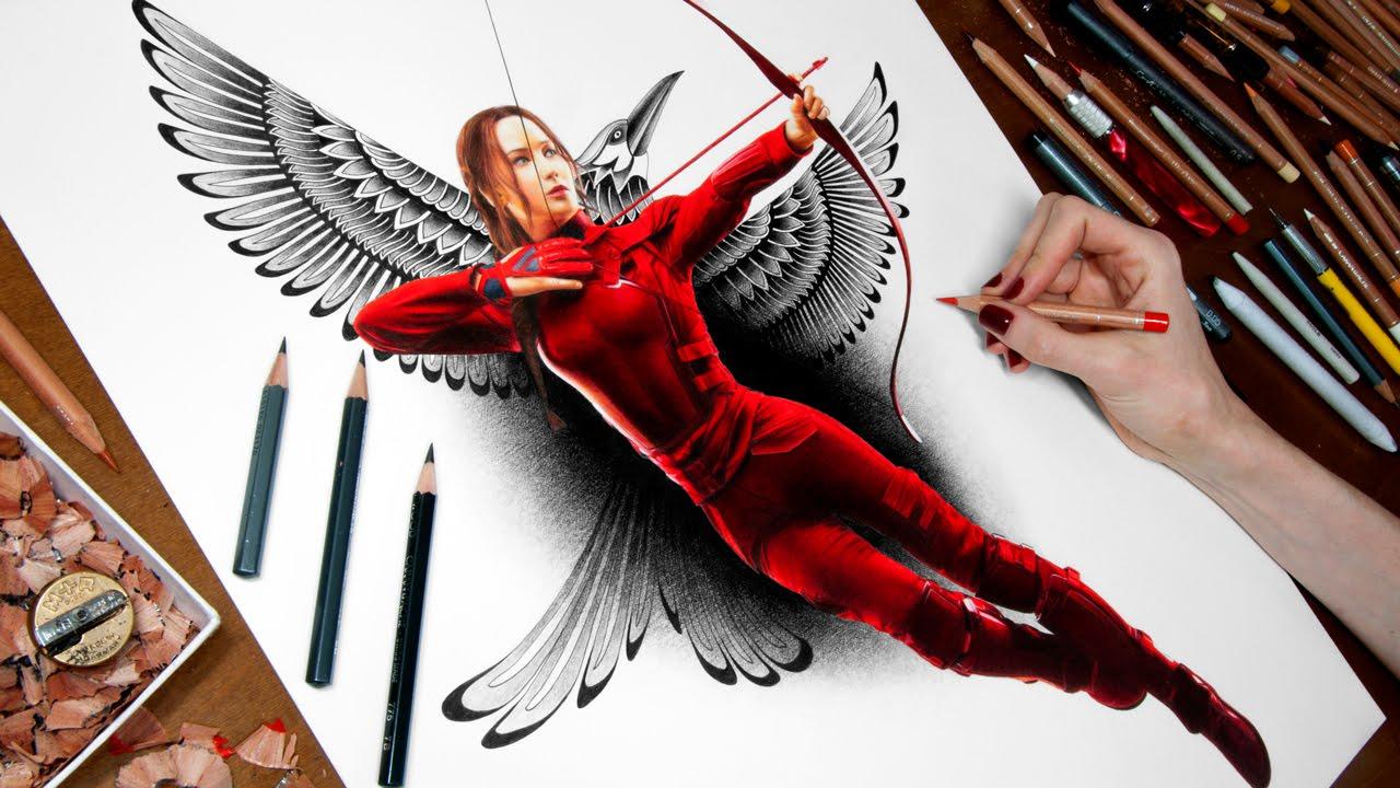 1280x720 Drawing Katniss