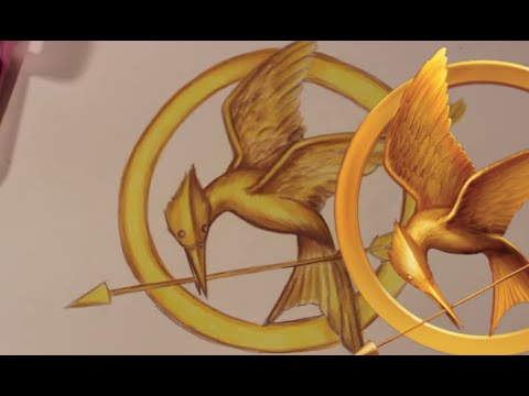480x360 How To Draw The Mockingjay Symbol From The Hunger Games