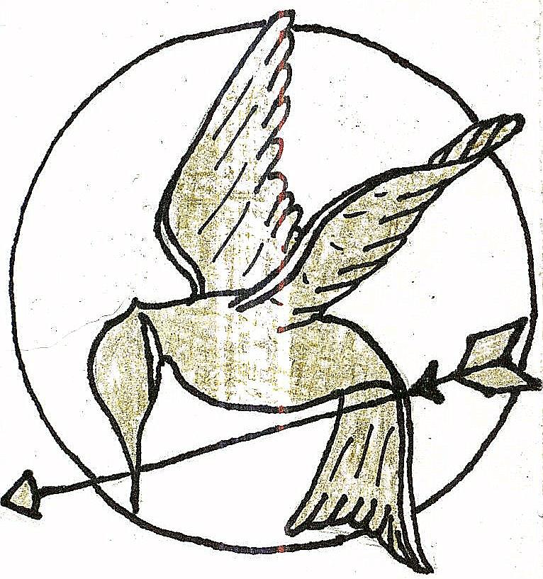 766x817 Mockingjay Pin Drawing By Germanyitaly