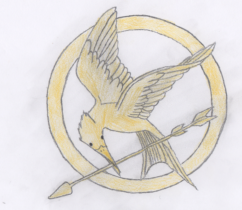 822x711 Mockingjay Pin Sketch By Moonlightwolf578