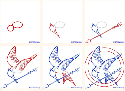 505x370 Mockingjay Drawing Tutorial! Definitely Going To Try This. I