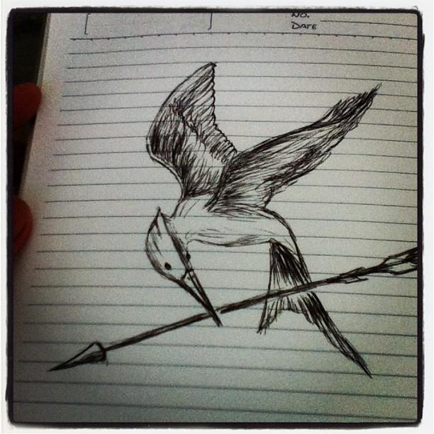 612x612 My Mockingjay Bird Drawing By Jimdrix