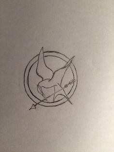 236x314 Mockingjay. Drawing. Clarissa Santos My Drawings