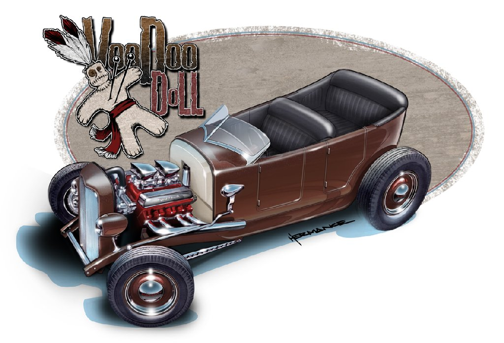 1024x696 Concept Drawing Of Hot Rod 1927 Model T