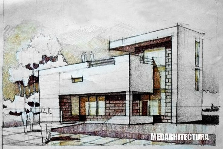 736x494 Modernist House Architectural Drawing Arch