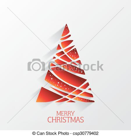 450x470 Modern Abstract Christmas Tree Background, Illustration Vector