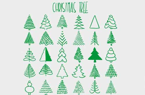 500x329 Sketched Cap Trim Sketches, Christmas Tree