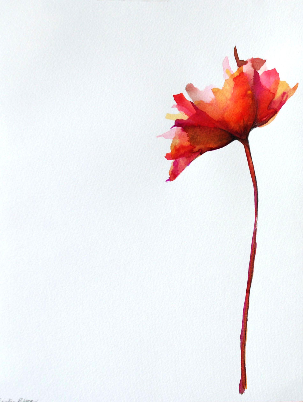 1127x1500 Original Flower Drawing On Paper