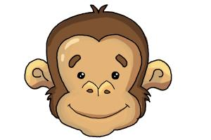 300x200 How To Draw A Monkey Face