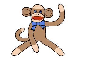 300x200 How To Draw A Sock Monkey
