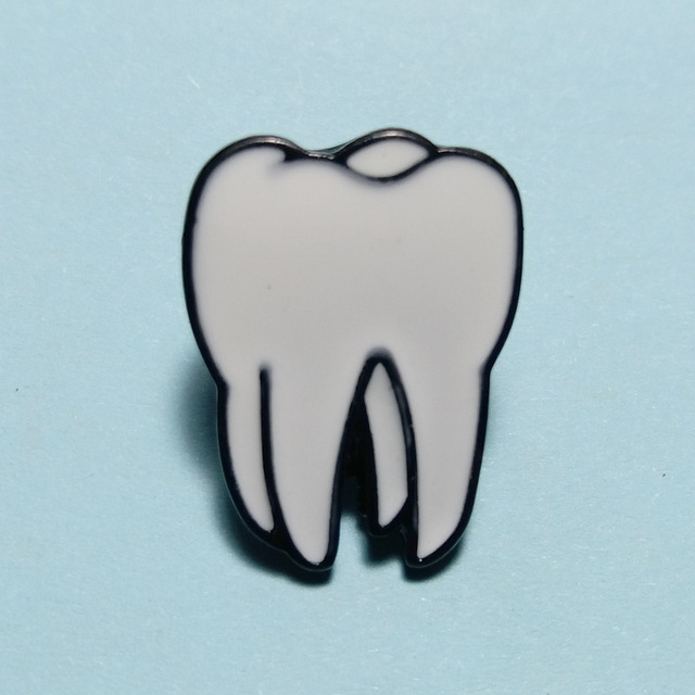 640x640 Dental Badges Clinic Gift Metal Tooth Type Shape Molar Brooch