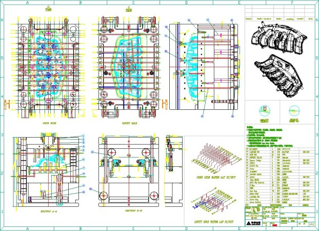 622x450 2d File Of Mold Structure Lever Molding Technology Co., Limited