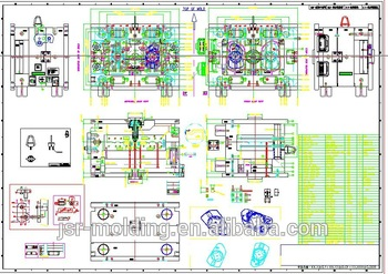 350x247 2d Drawing And 3d Mould Design Of Plastic Injection Mold