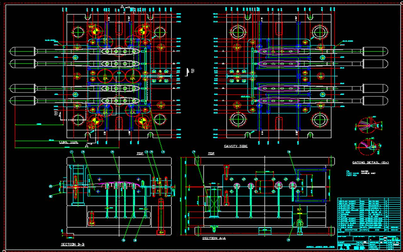 1280x802 Over Mold Drawing,cad Secondary Mold