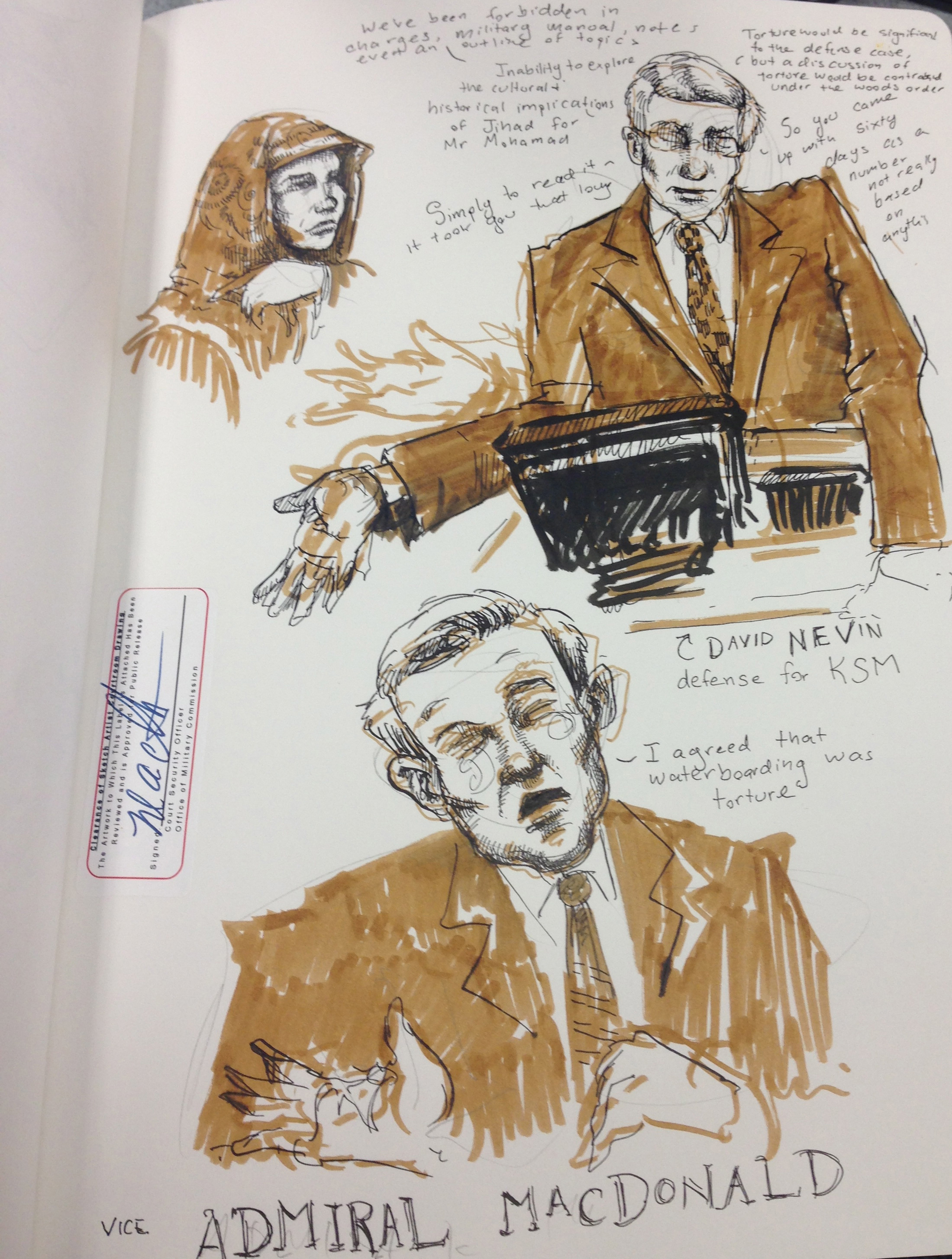 2199x2909 Molly Crabapple Sent Us Sketches From Khalid Sheikh Mohammed'S