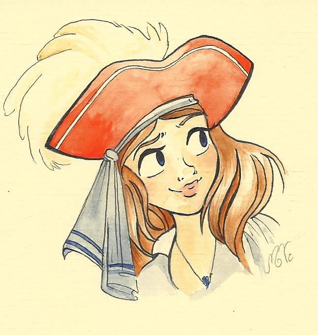 647x680 Pirate Girl By Molly Draw