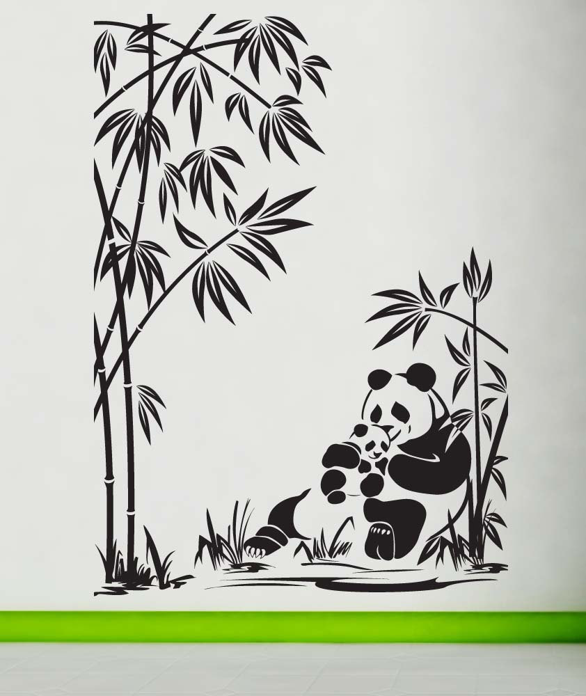 842x1000 Panda Wall Decal Panda Sticker Panda Decal Panda Bear