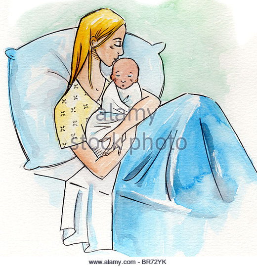 520x540 Illustration Mother Baby In Hospital Stock Photos Amp Illustration