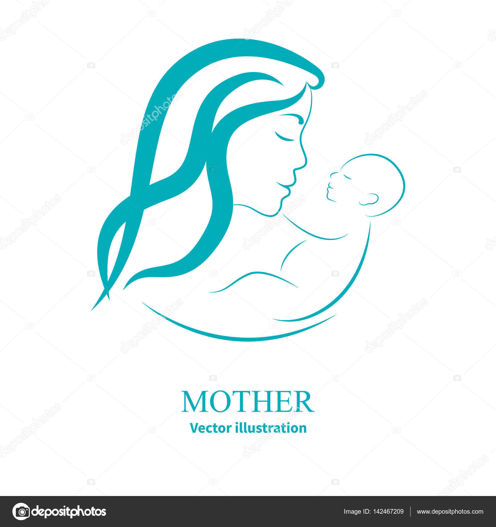 1600x1700 Logo Mom And Newborn Baby Stock Vector