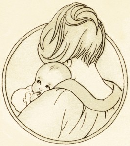 266x300 Free Vintage Clipart Baby, Mother Holding Baby, Antique Baby Book