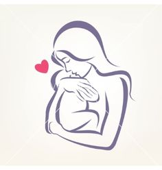 236x248 Mom Holding Baby Drawing