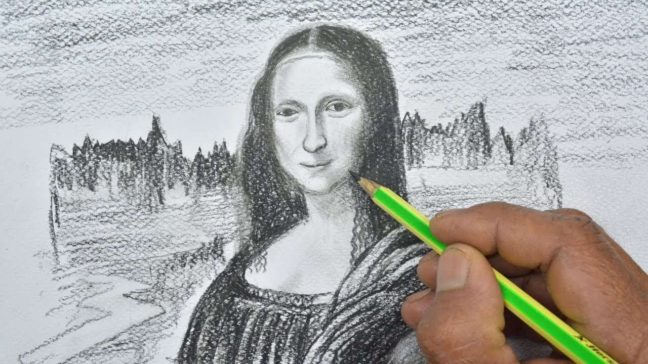 1280x720 How To Draw The Mona Lisa With Pencil