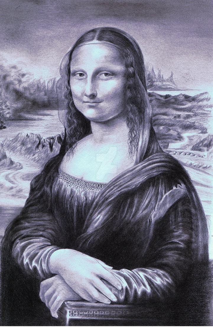 721x1107 Mona Lisa (La Joconde) By Art Skf