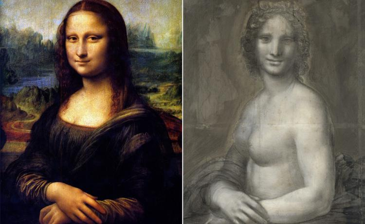 750x461 Nude Sketch May Be A Da Vinci Study For The Mona Lisa