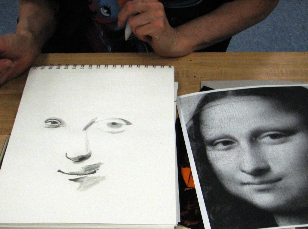 1024x760 These Are The 4th Week Of Drawing Class Warming Up Is Mona Lisa