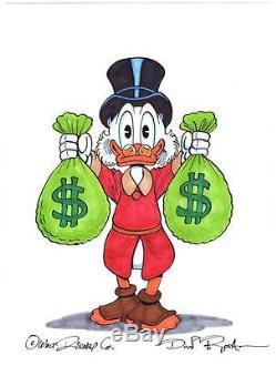 249x330 Disney Don Rosa Art Original Drawing Hand Drawn Amp Signed Scrooge