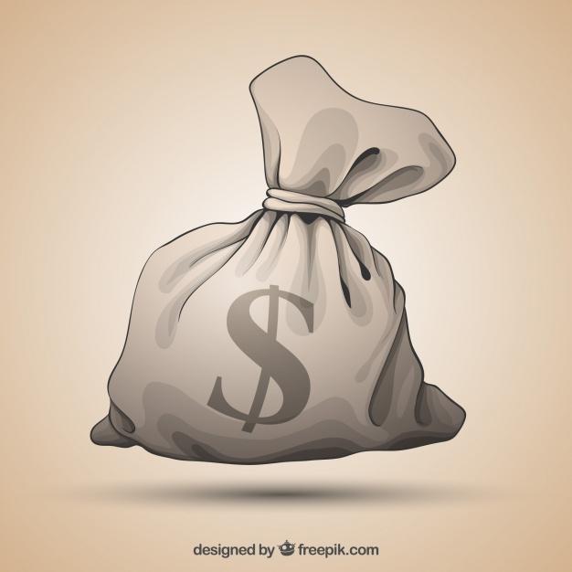 626x626 Hand Drawn Money Bag Vintage Background Vector Free Download