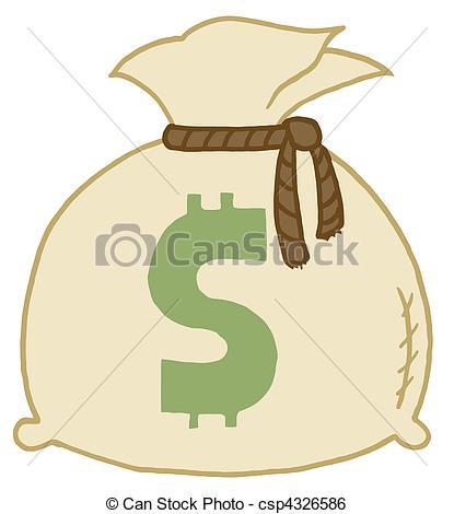 415x470 Money Bag Dollar Sign On A Money Bag Clip Art Vector