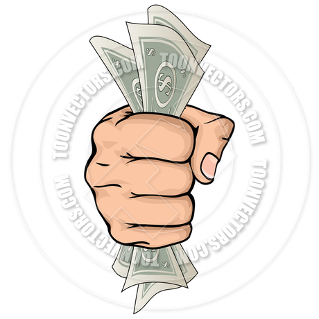 460x460 Hand Holding Money Drawing By Geoimages Toon Vectors Eps
