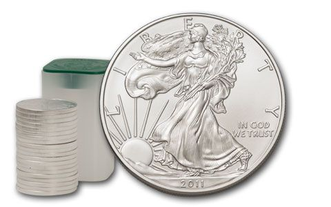 480x300 2012 1 Dollar Silver Eagle Bu Roll